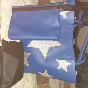 Kendall & Kylie large blue star tote